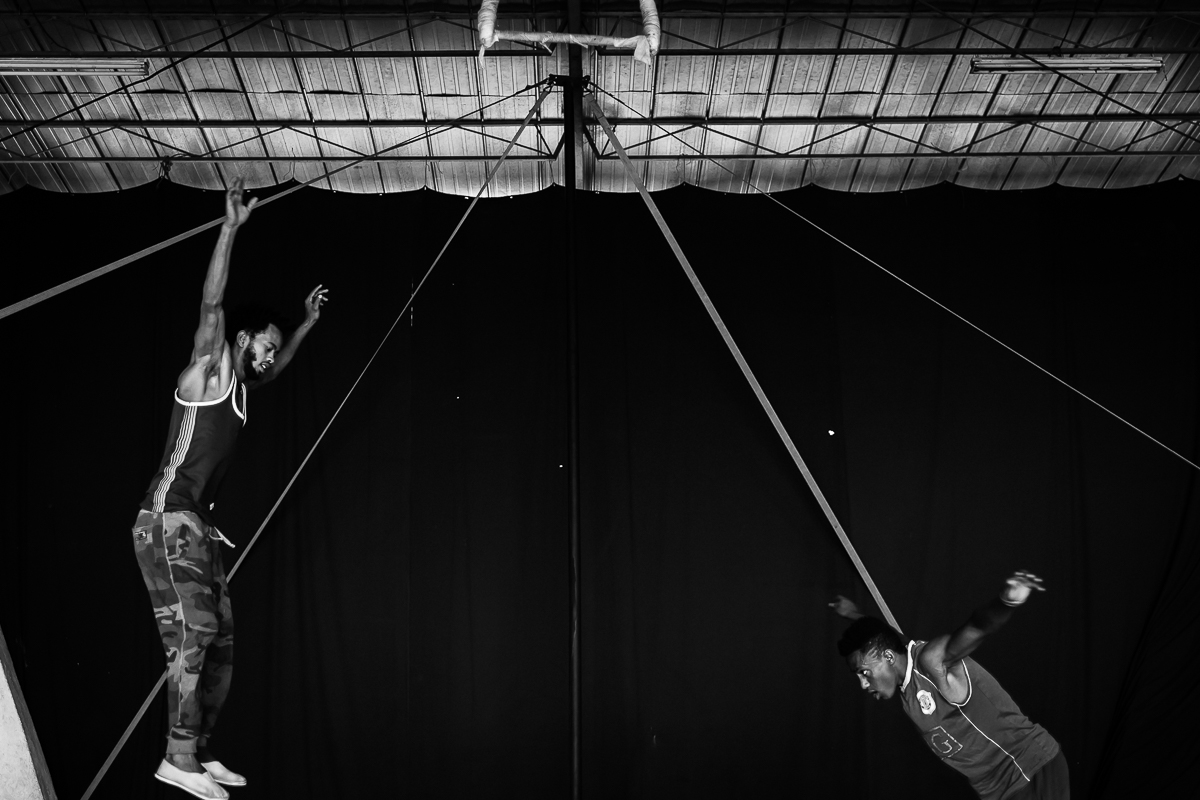 "(2017) Fekat Circus in Addis Ababa, Fekat Circus, which in Amharic means ""blossoming circus"", was born in 2004 in the outskirts of Addis Ababa out of the initiative of a group of young Ethiopians united by a deep and unique"
