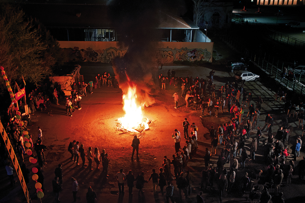 Exiled to Ararat - Ararat social centre. Celebration of Newroz 2012. All night Kurds and Italians have danced around the bonfire.