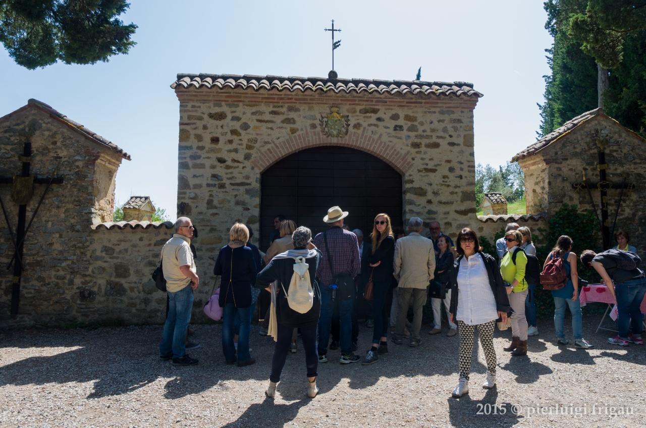L'ingresso alla Scarzuola.