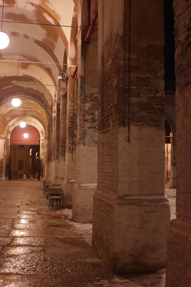 Lugo di Romagna - Rocca e Pavaglione innevati (marzo 2018)